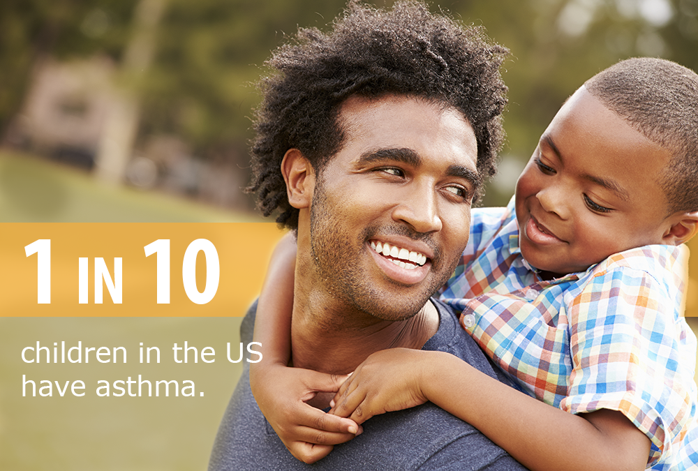 1 in 10 children in the US have asthma.